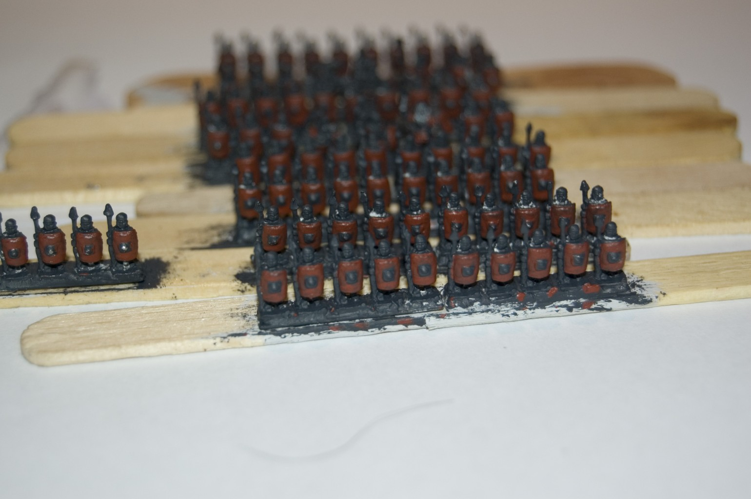 6mm Imperial Romans - Blocking in the red