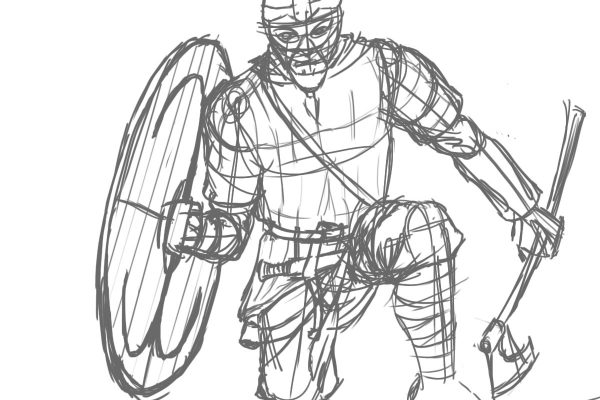viking4 - Viking Warrior early sketch