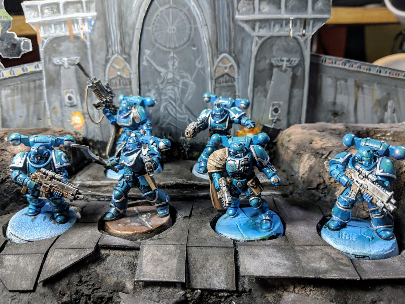 6 Alpha Legion kill team members.