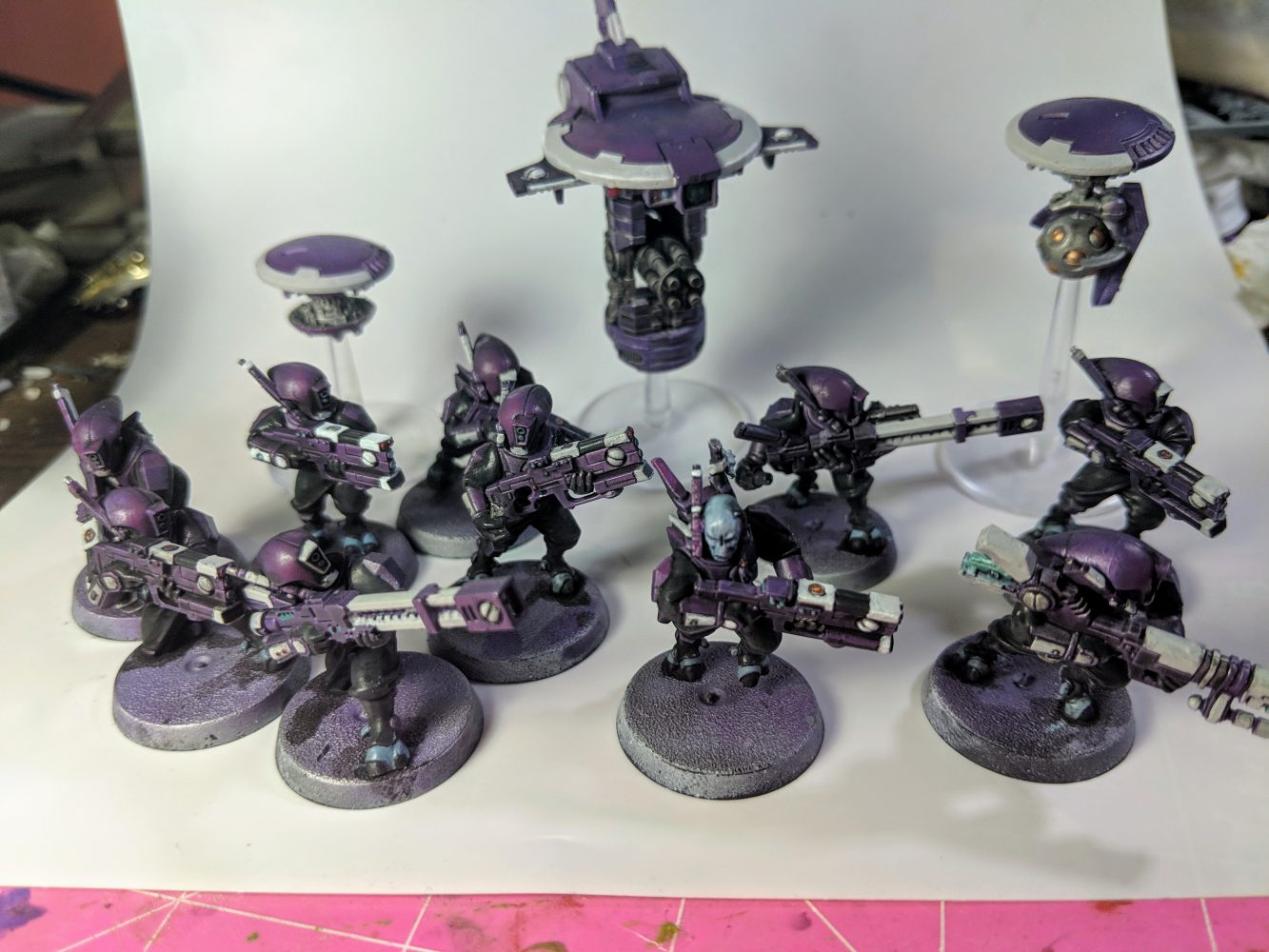 Tau Kill team with drones