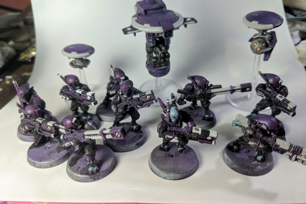 Tau Kill team with drones - Tau Kill team with drones